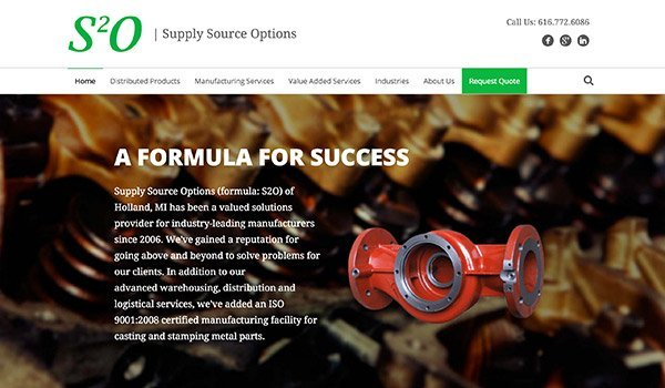 Supply Source Options - Manufacturing Website Launch