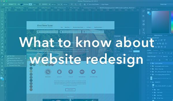 what to know about website redesign